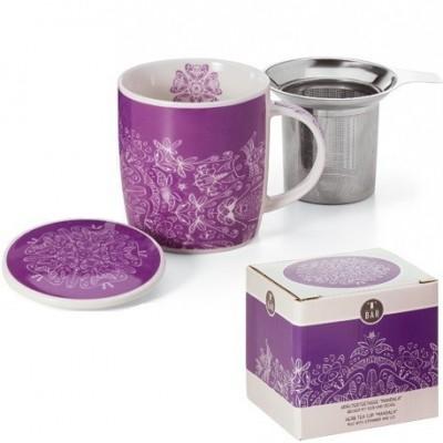 Preciosa caja de madera para tres tés
