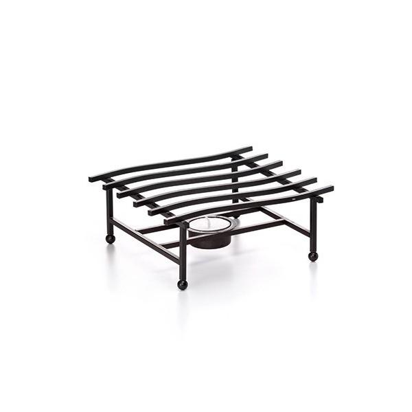 Tetera cerámica con filtro y calentador negro