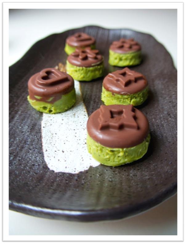 Bombones de Matcha y Chocolate
